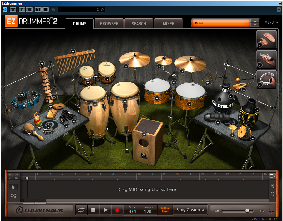 Latin percussion EZDrummer 2