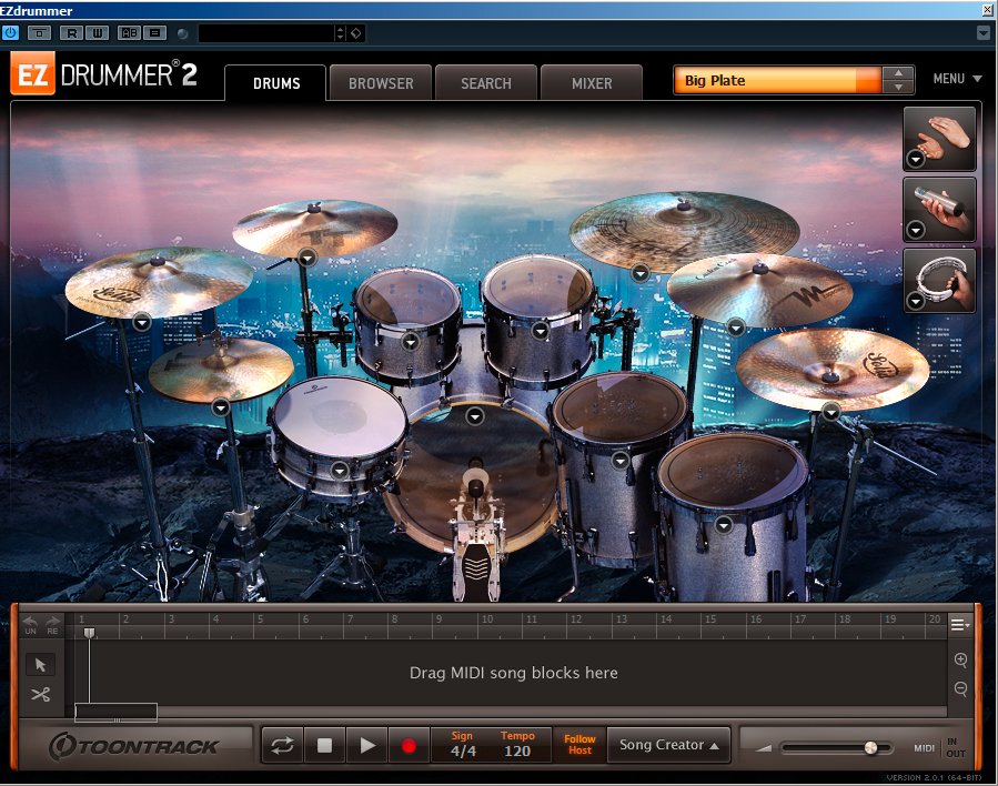 Rock solid EZDrummer 2