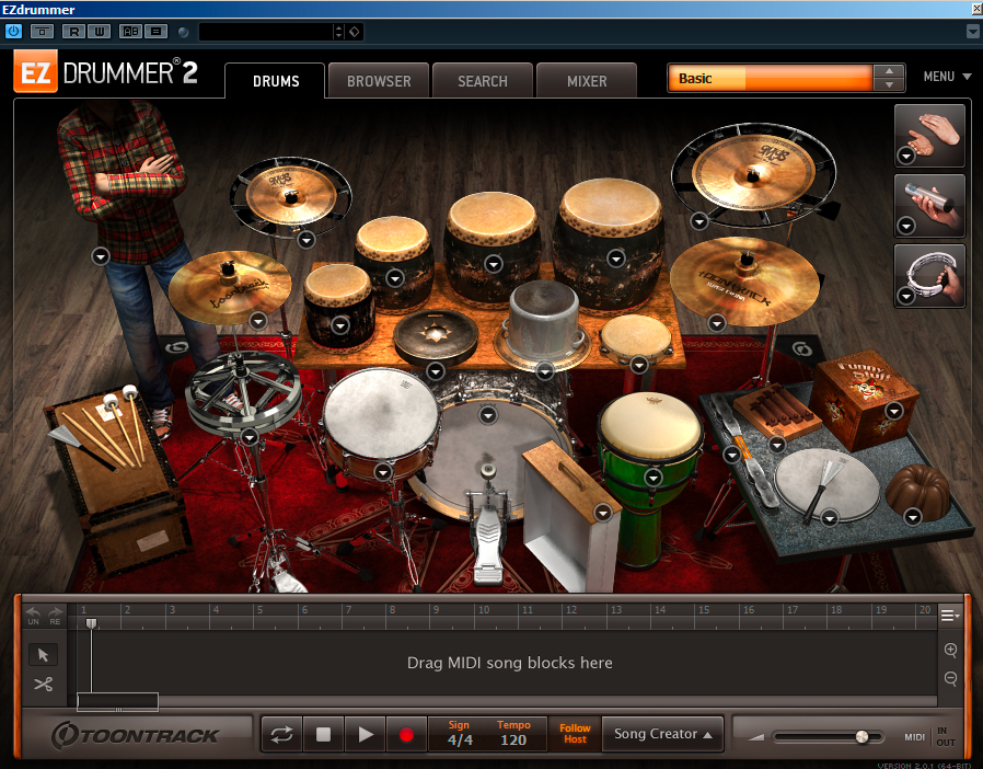 twisted kit EZDrummer 2